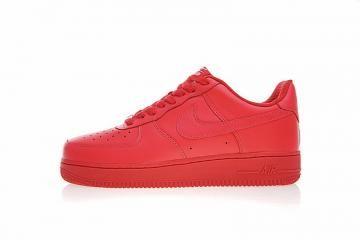 Nike Air Force 1 Low ID Triple Red Premium Leather AH6512-991