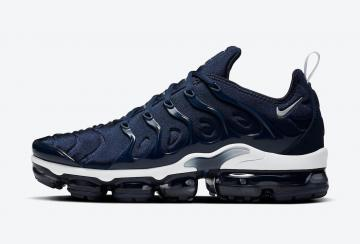 Nike Air VaporMax Plus Midnight Navy Silver White Shoes DH0611-400