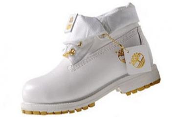 Timberland Roll Top Boots Men White Gold