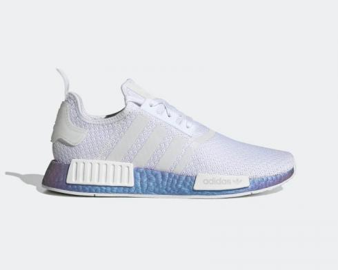 Adidas NMD R1 Metallic Blue Boost Cloud White FV5344