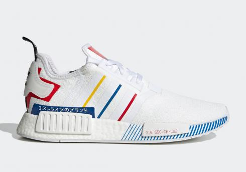 Adidas NMD R1 Olympic Pack White Red Blue FY1432