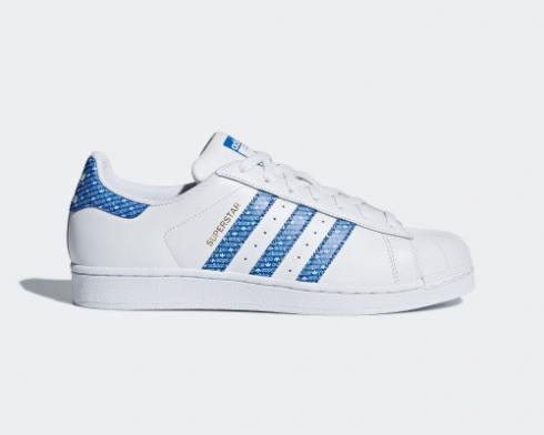 Adidas Originals Superstar Classic Leather White Blue AC8574