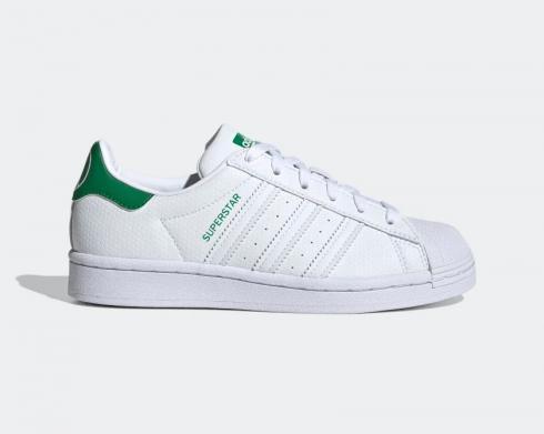 Adidas Originals Superstar Cloud White Green Kids Shoes FW0818