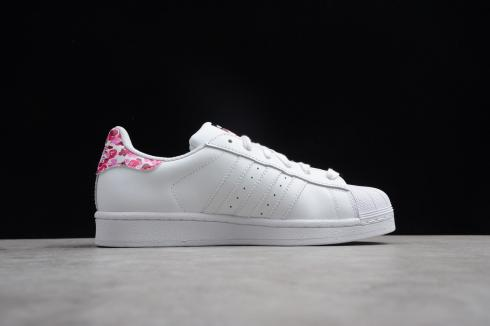 Adidas Superstar Core Black Pink Footwear White Shoes B34191