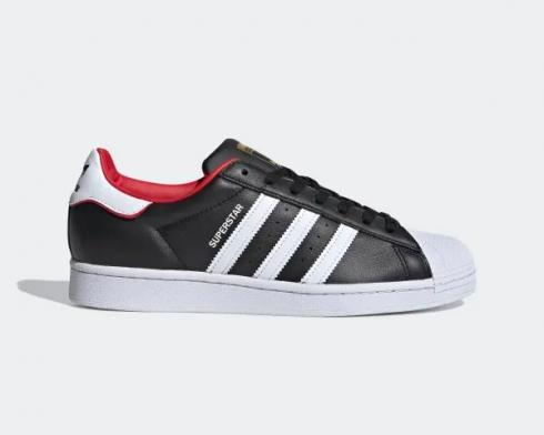 Adidas Superstar Valentines Day Core Black Cloud White Scarlet FW6385
