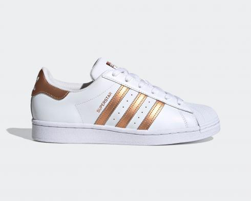 Adidas Wmns Superstar Cloud White Copper Metallic Core Black FX7484