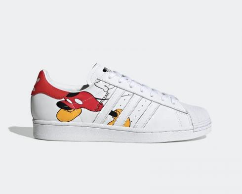 Mickey Mouse x Adidas Superstar Color White Rede Black FW2901