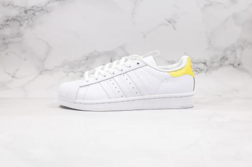 Wuhan Version Adidas Superstar 2020 Cloud White Yellow Core Black FW2856