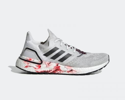 Adidas UltraBoost 20 Chinese New Year Grey Floral Red FW4314