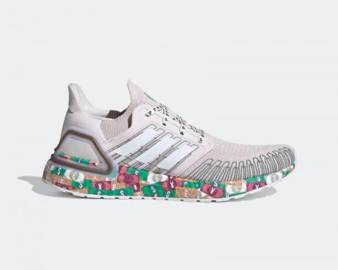 Adidas Ultraboost 20 Global Currency Green Red FX8890