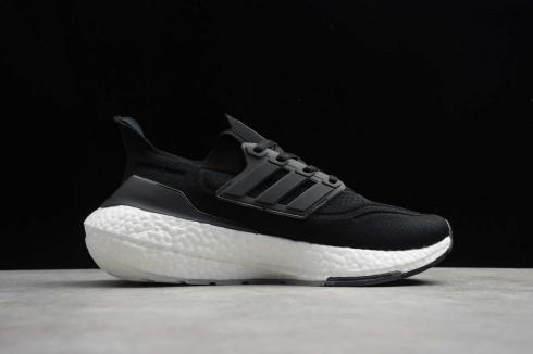 Adidas Ultraboost 21 Core Black Cloud White Running Shoes FY0402