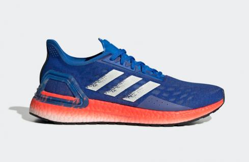 Adidas UltraBoost PB Glory Blue White Solar Red Shoes EF0893