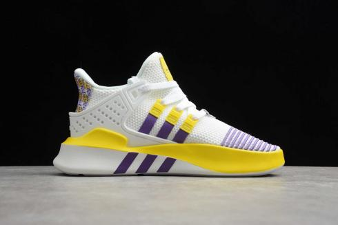 Adidas EQT BASK ADV White Purple Yellow FU9411