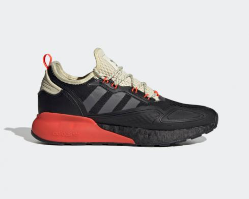 Adidas ZX 2K Boost Core Black Grey Five Solar Red FV9999