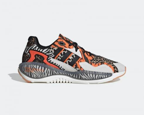 Atmos x Adidas Originals ZX Alkin Crazy Animal Black White Orange FY5235