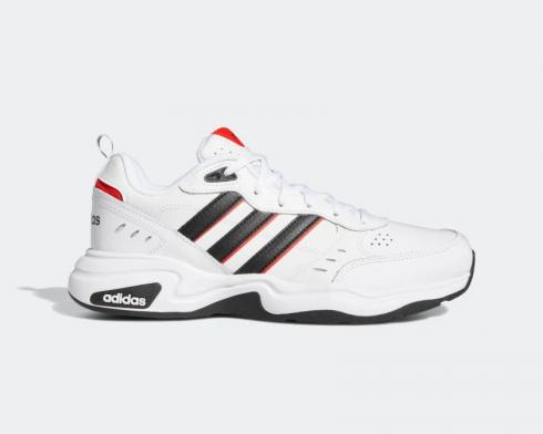 Adidas Essentials Strutter Cloud White Core Black Active Red EG2655