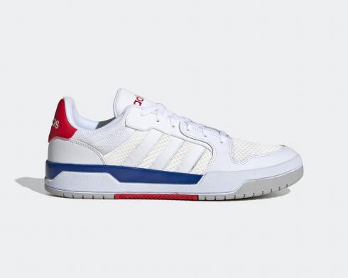 Adidas Neo ENTRAP Cloud White Blue Red Shoes FX3978