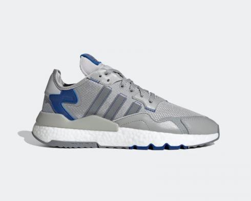 Adidas Nite Jogger Grey Two Cloud White Collegiate Royal Shoes FW2056