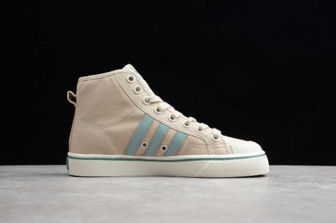 Adidas Nizza Khaki Magnolia Cymbidium Gun Green White Shoes BD7643