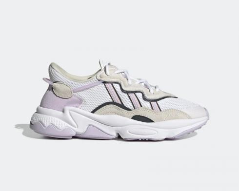 Adidas Originals Ozweego White Purple Pink Black Shoes FY3129