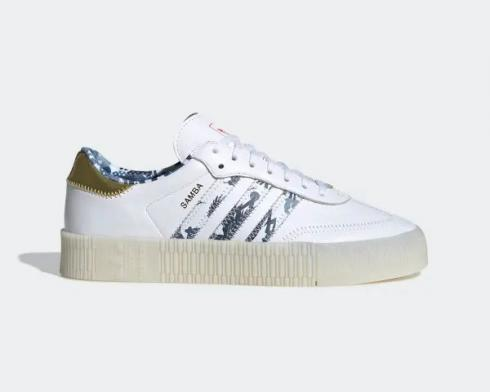 Adidas Wmns Originals Sambarose Cloud White Gold Metallic Core Black FW5345