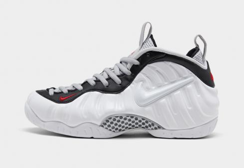 Nike Air Foamposite Pro White Black University Red 624041-103