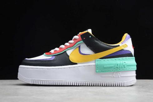 2019 Nike Air Force 1 Shadow White Black Red Yellow Green Purple CI0919-023