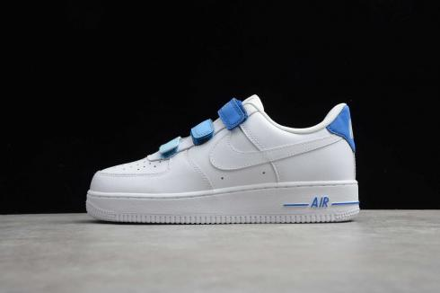 2020 Nike Air Force 1 Low Velcro White Blue 898866-008