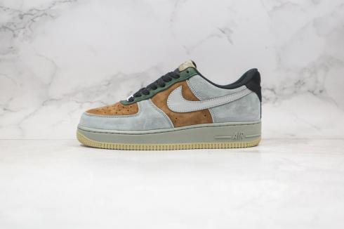Nike Air Force 1 07 Chrismas Dark Gray Dark Green Brown Black Reflective Silver CQ5059-101