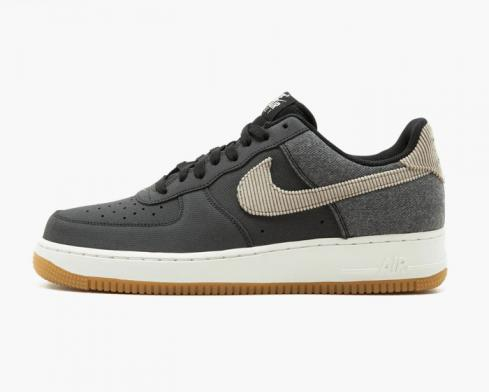 Nike Air Force 1 Anthracite Bamboo Black Summit White Mens Shoes 820266-003