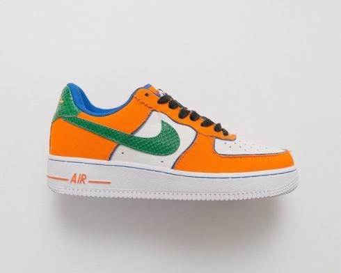 Nike Air Force 1 Dragon Ball Orange Green Blue White Mens Shoes 820266-058