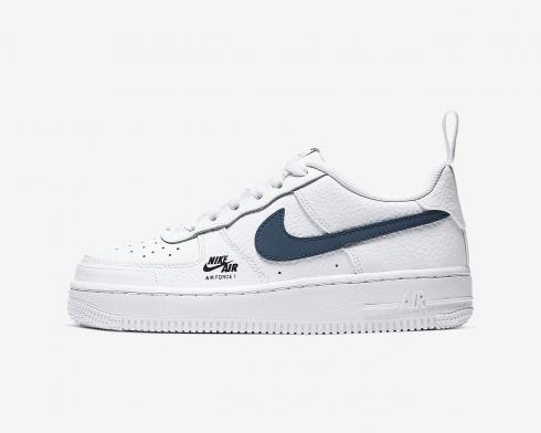Nike Air Force 1 GS Low White Obsidian Light Smoke Grey CZ4203-101