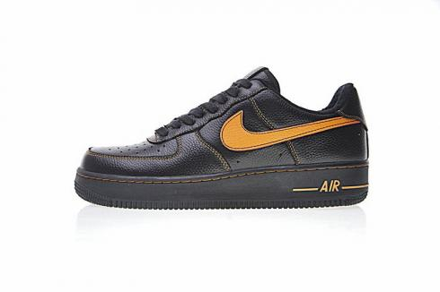 Nike Air Force 1 Low Black Orange Mens Running Shoes 820268-001