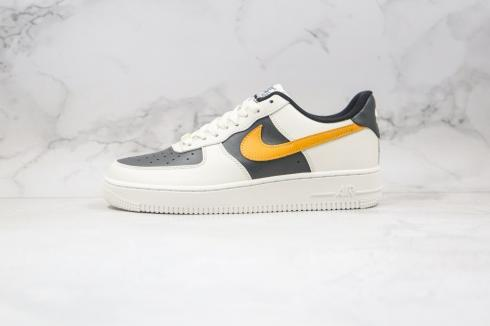 Nike Air Force 1 Low Cloud White Black Yellow Shoes AQ4134-403
