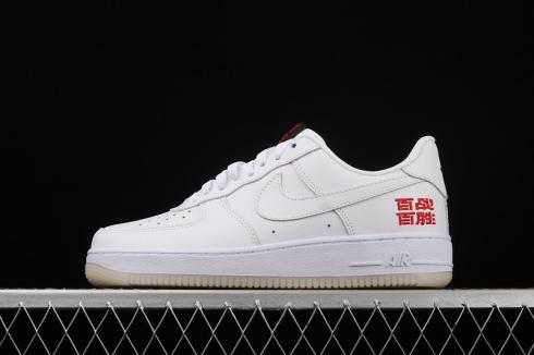 Nike Air Force 1 Low Cloud White University Red CL8862-300