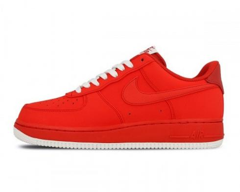 Nike Air Force 1 Low University Red White Mens Running Shoes 820266-603