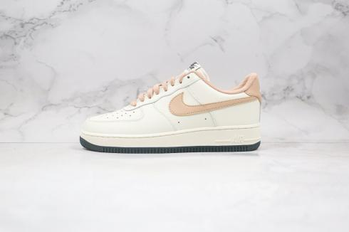Nike Air Force 1 Low White Yellow Wheat Black Running Shoes CJ6065-500