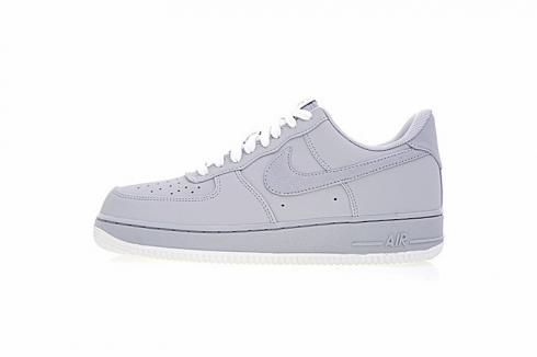 Nike Air Force 1 Low Wolf Grey Sail White Mens Shoes 820266-016
