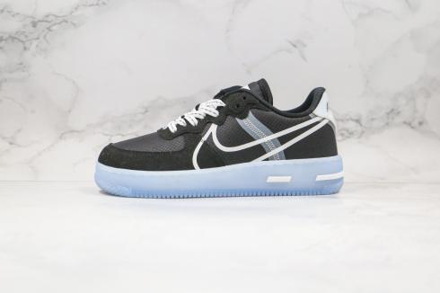 Nike Air Force 1 React QS Light Bone Black Blue White Shoes CQ8879-103