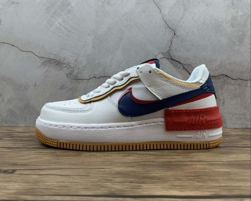 Nike Air Force 1 Shadow White Yellow University Red Blue CJ1641-300