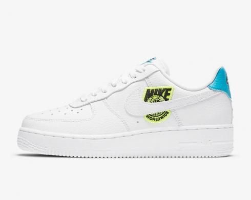 Nike Wmns Air Force 1'07 SE Worldwide Pack Volt Blue White CT1414-101