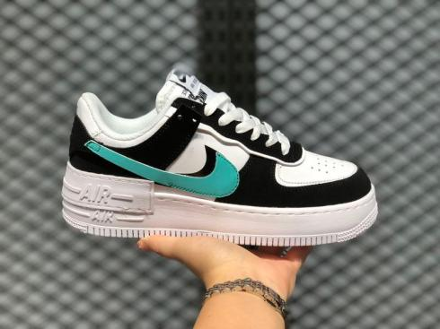 Wmns Nike Air Force 1 Shadow White Black Green CJ1641-001