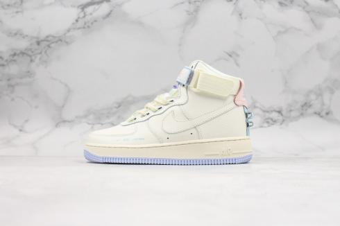 Nike Air Force 1 Mid Summit White Blue Running Shoes CQ4810-100