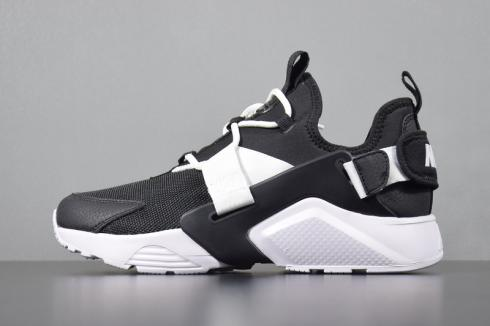 O Cámara ropa  Womens Nike Air Huarache City Low Casual Shoes Black White AH6804-002 - nike  shoes