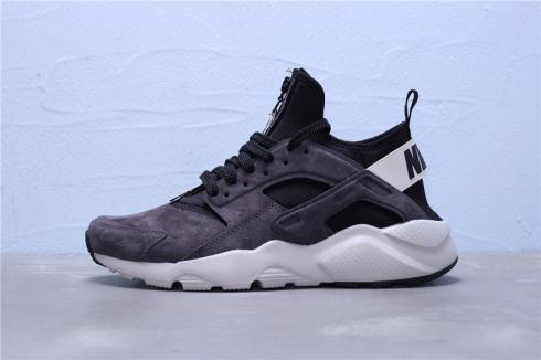Nike Air Huarache Run Ultra Suede ID Black Grey Running Shoes 829669-558
