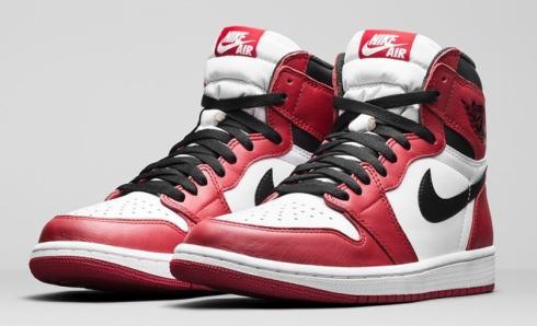 Air Jordan 1 Retro High OG Chicago Black Red - White 555088-101 ...
