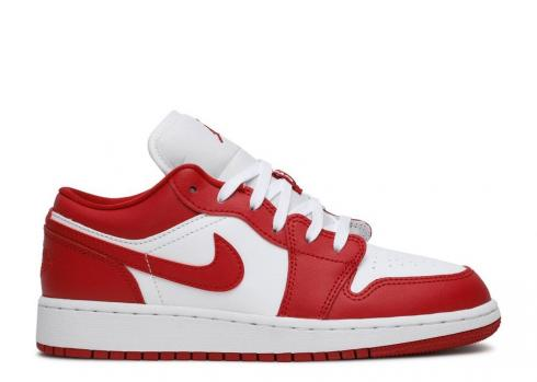 Air Jordan 1 Low Gs Gym White Red 553560-611