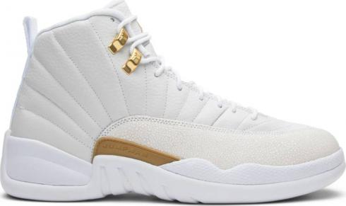 Nike Air Jordan 12 XII Retro OVO White Gold Wings Men Basketball Shoes 873864-102