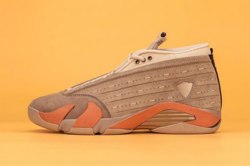 Air Jordan 14 Retro Low Clot Terra Blush Sepia Stone Shoes DC9857-200