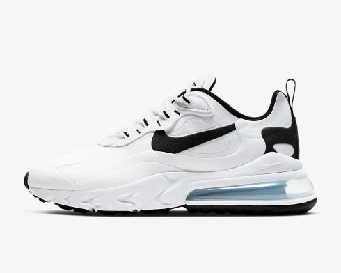 Nike Air Max 270 React White Black Running Shoes CT1264-102